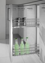Inoxa 2104SY2050C Cestelli estraibili Mobile Cucina base 20 cm Cromato