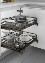 Inoxa 5202EDY60-45TT Cestello Estraibile Cucina Cassetto Fondo Titanio 60 cm