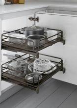 Inoxa 5202EDY90-45TT Cestello Estraibile Cucina Cassetto Fondo Titanio 90 cm