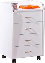 Inter Link 13300100 Cassettiera ufficio scrivania 4 Cassetti 40x36x65h cm Bianco