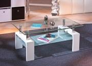 Inter Link 50100040 Tavolino salotto moderno 2 ripiani 100x60x45h cm Bianco