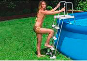 Intex Scala Scaletta Piscina Acciaio Gradini Antiscivolo h 122 cm - Safety 28073