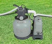 Intex Pompa a Sabbia per Piscine Capacità 6,000 Lth con Clorinatore Combo 28676