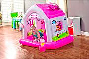 Intex Casa Casetta Gioco Gonfiabile Bambini cm 138x110x122 h Hello Kitty 48631