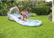 Intex 57159 Scivolo Gonfiabile Spray Acqua + 2 tavole surf 460x168x157 cm  Squalo