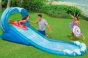 Intex Scivolo Gonfiabile Gioco Acquatico Bambini cm 442x168x163 Surf Slide 57469