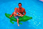 Intex 58546 Gioco Gonfiabile Cavalcabile per Bambini cm. 168x86 -  Alligatore