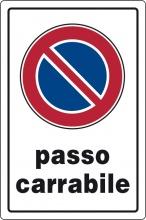 Ist 0770 0010 Targa Segnaletica Passo Carrabile Pezzi 10