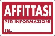 Ist 0770 5010 Targa Segnaletica Affittasi Pezzi 10