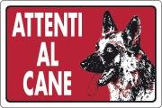 Ist 0780 0660 Targa Segnaletica Attenti Al Cane Pezzi 10