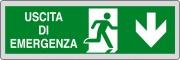 Ist 1590 9000 Etichetta Adesiva 150x50 Uscita Emergenza Pezzi 10