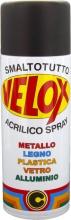 Ital G.E.T.E. BLGHU1326 Velox Spray Acrilico Nero Opaco Ral 9005 Pezzi 6