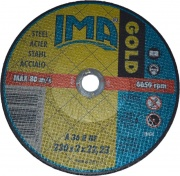 Italmedia 52100 200 Dischi Smerigliatrice Per Acciaio 3 pz Gold 230 x 2 x 22