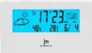 JM JD-9523B Sveglia digitale Snooze + Meteo Calendario Temperatura Bianco