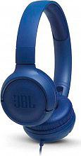 Jbl TUNE 500 BLU Cuffie con Microfono Pieghevoli e Tasto di Risposta Blu T500BL Tune 500