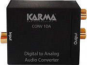 KARMA Adattatore Audio Digitale  Analogico Toslink+CoassialeRCA - CONV1DA