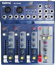 KARMA Mixer audio console per Dj 4 Canali USB RCA 1 ing Microfono MX 4704USB
