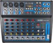 KARMA MX-P08 Mixer Dj Professionale 8 Canali XLR RCA Suono 16 Bit MX P08