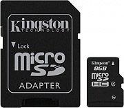 KINGSTON SDC48GB Micro SDHC 8 GB Classe 4 Scheda Memoria+Adattatore SD