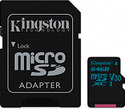 KINGSTON SDCG264GB Scheda di Memoria MicroSD 64 Gb Classe 10 microSDXC Canvas Go! - SDCG2