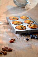 KITCHENAID Stampo Muffin Acciaio Antiaderente 6 porzioni Set 2 pezzi - KBNSS06MF