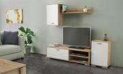 KITWOOD INDUSTRY PR3028 Parete attrezzata Moderna Legno Mobile TV 138x40x30h cm