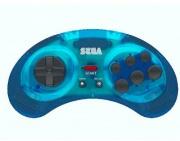KOCH MEDIA 1038489 Gamepad Wireless Blu  Retro-Bit SEGA MD BT Pad Blue