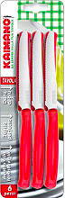 Kaimano KDN0215-06 Coltello Kaimano da Tavola 6 pezzi colore Rosso .ROSSO