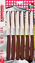 Kaimano KDN0215-06 Coltello Kaimano da Tavola 6 pezzi colore Legno  LEGNO