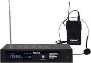 KARMA SET-6250LAV Radiomicrofono Wireless Microfono UHF 30 mt + Base Trasmittente