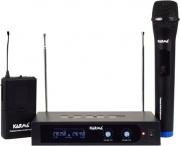 KARMA SET-6252PL Radiomicrofono Doppio Wireless 2 Microfoni UHF+Base Trasmittente