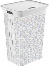 KIS 67100002555 Cesto Portabiancheria Plastica 60 Lt 35 x 44 x 61 cm Bianco 671002555 Mosaic