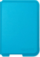 "Kobo N306-AC-AQ-E-PU Cover Custodia eBook 6"" per Aura H2O Azzurro  Leather Acqua"