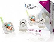 """Konig Baby Monitor DECT wireless schermo LCD da 3,5"""" Modalità notte KN-BM80"""
