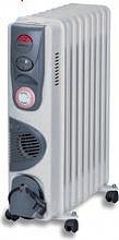 LEWE TR 9 TT Termosifone Elettrico Radiatore ad Olio Stufa 9 Elementi 2400W Timer