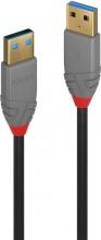 LINDY 36752 Cavo USB 2 m 3.2 Gen 1 3.1 Gen 1 USB A Nero