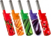 LIT GAS F024 Accendigas a Fiamma Ricaricabile colori Assortiti -  Vegetable