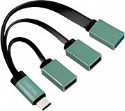 LOGILINK UA0315 Hub USB 3.0 3 Porte colore Nero  Grigio