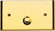 LORENA di CAGGIOLI 350C Campanello casa in ottone 120x75 mm Oro Lucido  Gold