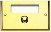 LORENA di CAGGIOLI 350F Campanello casa in ottone 120x75 mm Oro Lucido  Gold