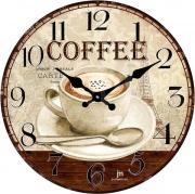 LOWELL 14858 Orologio da Parete ø 33.5 cm materiale Vetro Estetica Caffe Shabby