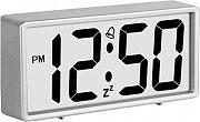 LOWELL JD9030CF-S Sveglia digitale quarzo Funzione Snooze col Silver
