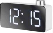 LOWELL JE5108B Orologio Sveglia Digitale con Termometro Display Bianco