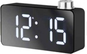 LOWELL JE5108N Orologio Sveglia Digitale con Termometro Display Nero