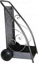 LaFerrotecnica Carrello Portalegna in Ferro con Ruote Dimensioni 40x52x90 PL961