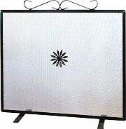 LaFerrotecnica Parascintille Camino in Ferro Rettangolare Dimensioni 60x47 cm