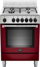 La Germania AMN664EVIV Cucina a Gas 4 Fuochi Forno Elettrico Grill 60x60 Rosso