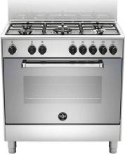 La Germania AMN855EXV Cucina a Gas 5 fuochi Forno Elettrico 80x50 Cristallo Inox