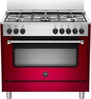 La Germania AMN965EVIV Cucina a Gas con Forno Elettrico 4 Fuochi 90x60 cm Rosso