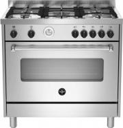 La Germania AMN965EXT Cucina a Gas con Forno Elettrico 5 Fuochi LxP 90x60 Inox